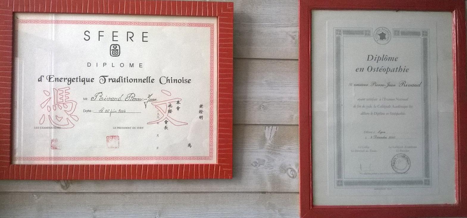 diplôme medecine chinoise-osteopathie-pierre jean Rivaud-Arles